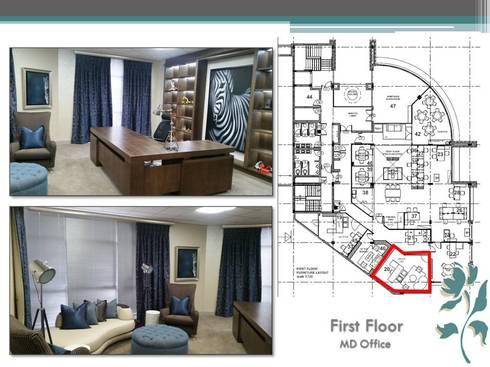 Makoya - First Floor - MD Office: modern Study/office by Carne Interiors
