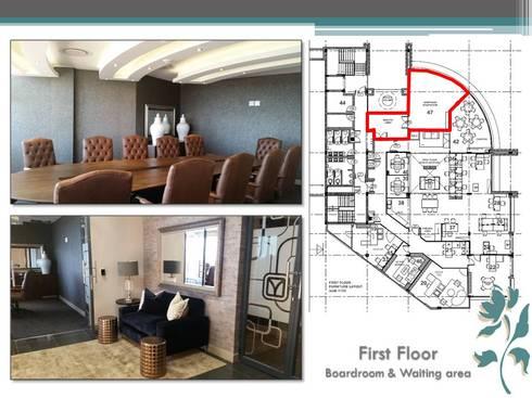 Makoya - First Floor - Boardroom: modern Study/office by Carne Interiors
