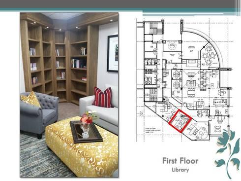 Makoya - First Floor - Library: modern Study/office by Carne Interiors