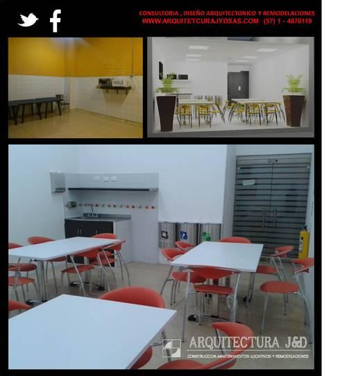 REMODELACION SALA VIP TAXIS CENTRO COMERCIAL SANTAFE: Salones de estilo  por ARQUITECTURA J Y D SAS