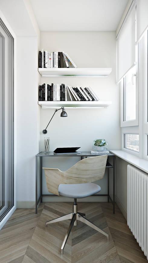 Квартира-студия для студентки: Рабочие кабинеты в . Автор – СВЕТЛАНА АГАПОВА ДИЗАЙН ИНТЕРЬЕРА
