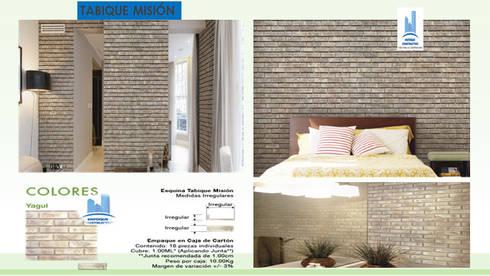 TABIQUE MISION: Paredes y pisos de estilo moderno por ENFOQUE CONSTRUCTIVO