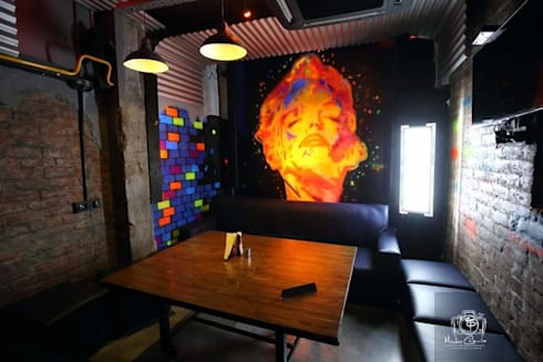 PK TUNN RESTOBAR,LUDHIANA: industrial Dining room by Ingenious