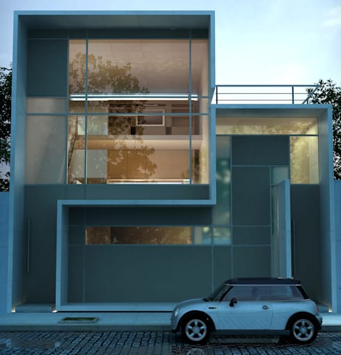 Duplex: Casas de estilo minimalista por LIMMIT