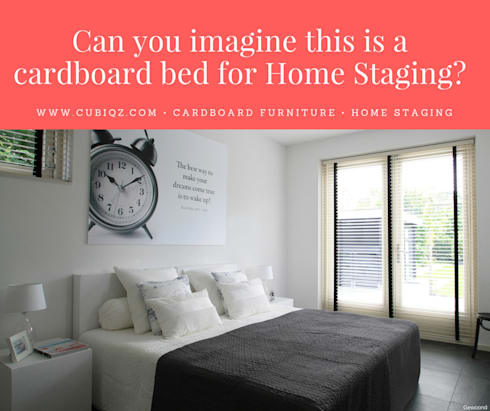CUBIQZ Cardboard Furniture For Home Staging