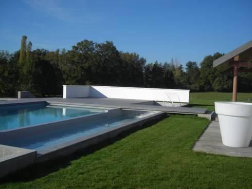 Projet de piscine design et moderne aix les bains di a2d piscines homify - Piscine creusee moderne metz ...