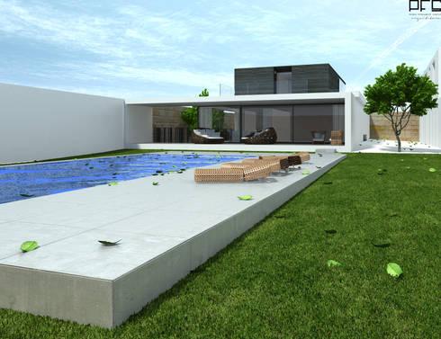 CASA DM_PÓVOA DE VARZIM_2010: Casas modernas por PFS-arquitectura