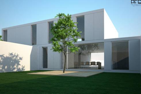 CASA BI-FAMILIAR AG_PÓVOA DE VARZIM_2011: Casas minimalistas por PFS-arquitectura
