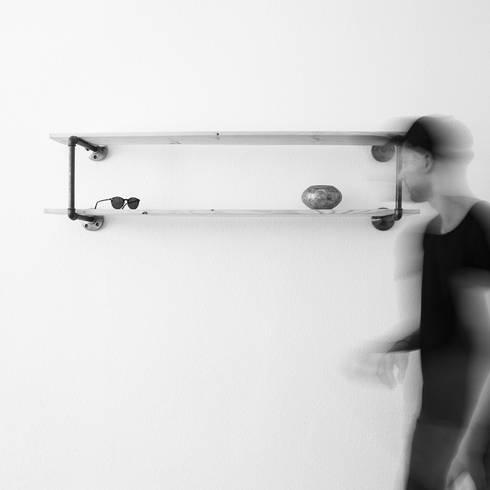 Wandregal OBJECT: industriale Wohnzimmer von various - Design aus Stahlrohr
