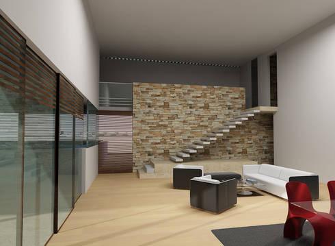 SALA-COMEDOR: Salas de estilo moderno por CARCO Arquitectura y Construccion