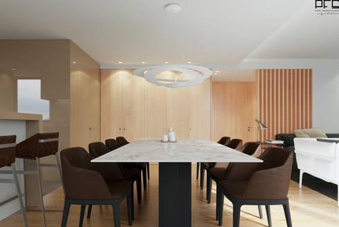 APARTAMENTO AD_PÓVOA DE VARZIM_2015: Salas de jantar minimalistas por PFS-arquitectura