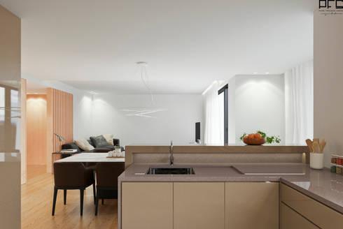 APARTAMENTO AD_PÓVOA DE VARZIM_2015: Cozinhas minimalistas por PFS-arquitectura