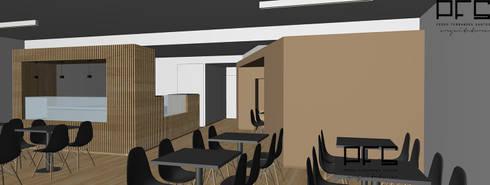 PASTELARIA VIATODOS_BARCELOS_2016: Espaços de restauração  por PFS-arquitectura