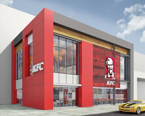 KFC LA RAMBLA SAN BORJA: Espacios comerciales de estilo  por ARKILINEA