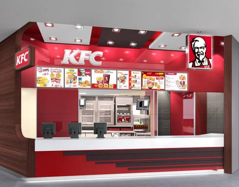 KFC FOOD COURT SALAVERRY: Espacios comerciales de estilo  por ARKILINEA