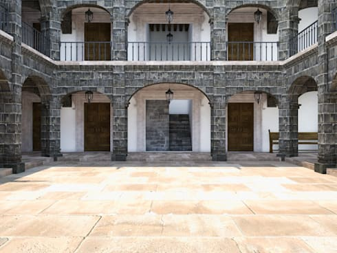 Vista patio frontal:  de estilo  por MRamos