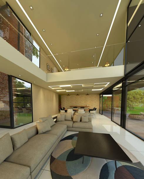 Vista desde la sala: Salas de estilo  por RecreARQ Construcciones
