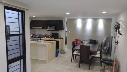 Vista del Comedor y Cocina:  de estilo  por RecreARQ Construcciones