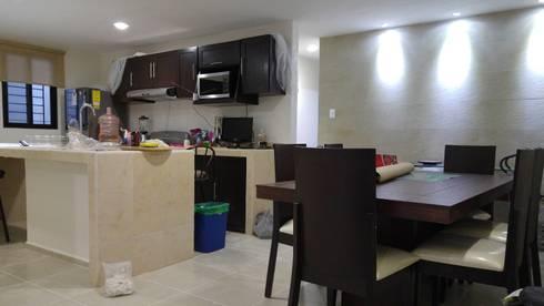 Comedor - Cocina:  de estilo  por RecreARQ Construcciones