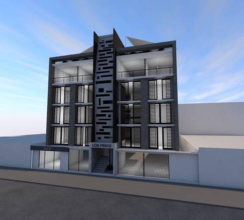 Conjunto Habitacional <q>Los Pinos</q>: Casas de estilo moderno por Lima Arquitectos