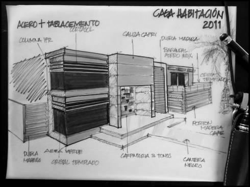 PRO-39: Casas de estilo minimalista por APF arquitectos
