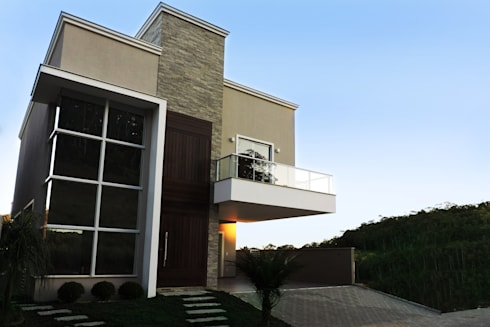 Casa QE148: Casas modernas por Cecyn Arquitetura + Design