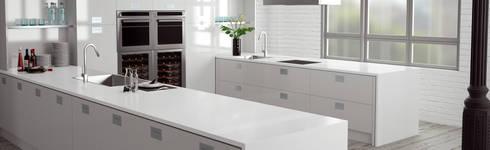 Absolut Blanc: Cocina de estilo  por Ecoconcept Design