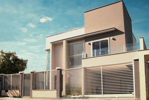 Casa LG309: Casas modernas por Cecyn Arquitetura + Design