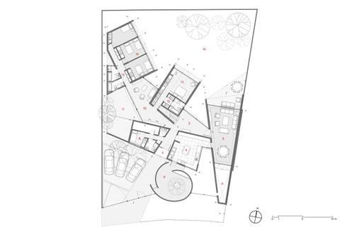 Planta Nivel 1:  de estilo  por Swett Arquitectos