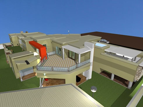 Contemporary House plan :   by iRON B HOME DESIGN