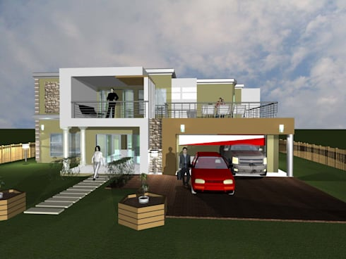 Zulu House:   by iRON B HOME DESIGN