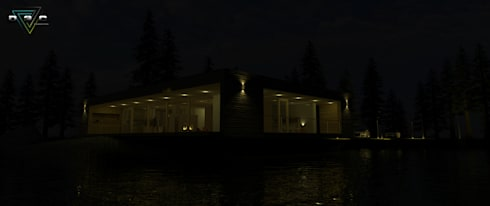 Visulaizacion 3d: Casas de estilo minimalista por D3c Arquitectos