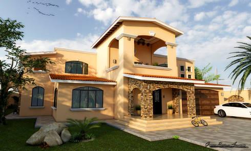 Residencia 2808: Casas de estilo ecléctico por D3c Arquitectos