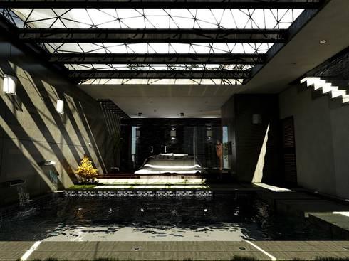 Master Room: Recámaras de estilo moderno por D3c Arquitectos