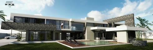 Residencia de lujo: Vestidores y closets de estilo minimalista por D3c Arquitectos