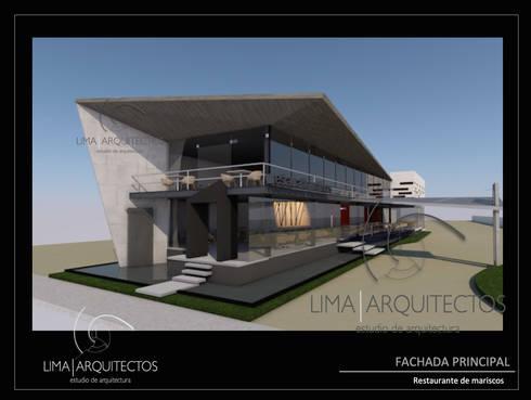 Restaurante de mariscos boca del rio veracruz por lima for Fachadas de restaurantes modernos