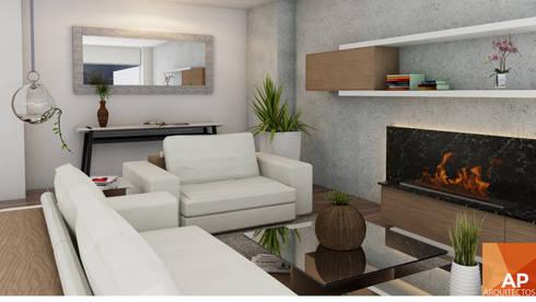 Sala Principal: Salas de estilo moderno por AParquitectos