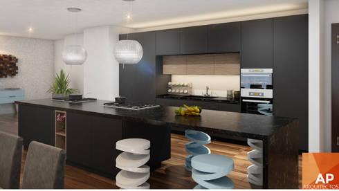Cocina: Cocina de estilo  por AParquitectos