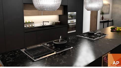 Cocina zoom: Cocina de estilo  por AParquitectos