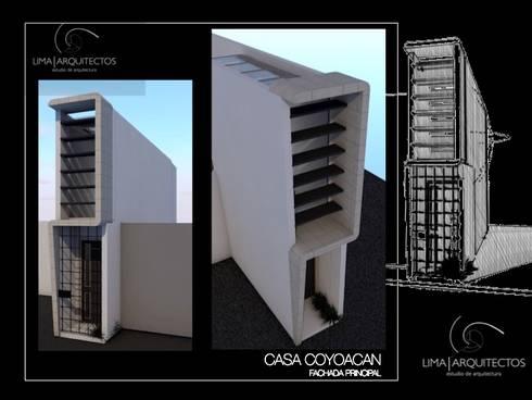 CASA COYOACAN: Casas de estilo moderno por Lima Arquitectos