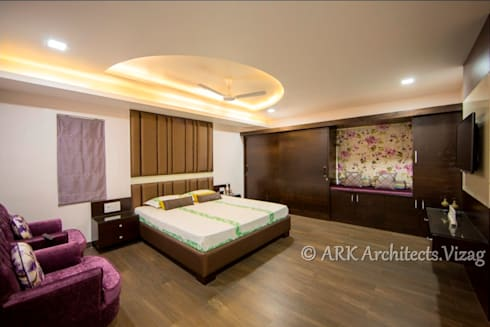Bunglow at VIP Road: modern Bedroom by ARK Architects & Interior Designers