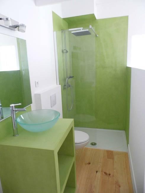 petite salle de bain en bton cir