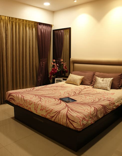 Serenity home!: modern Bedroom by Neha Changwani