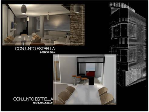 Conjunto Estrella CDMX: Cocinas de estilo moderno por Lima Arquitectos