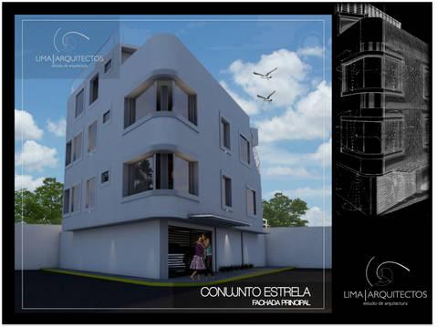 Conjunto Estrella CDMX: Casas de estilo moderno por Lima Arquitectos