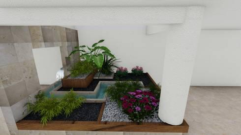 jardin interior: Jardines de estilo minimalista por A-labastrum   arquitectos