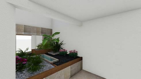 jardin interior: Gimnasios de estilo minimalista por A-labastrum   arquitectos
