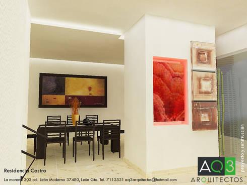Residencia Castro: Comedor de estilo  por AQ3 Arquitectos