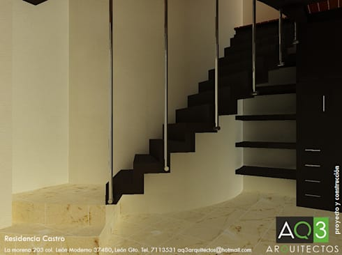 Residencia Castro: Hogar de estilo  por AQ3 Arquitectos