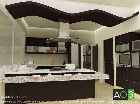 Residencia Castro: Cocina de estilo  por AQ3 Arquitectos